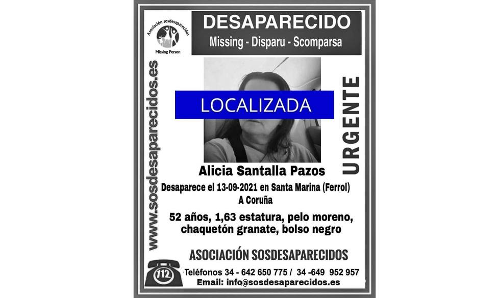 La mujer ha sido localizada gracias a la colaboración ciudadana - FOTO: Sosdesaparecidos