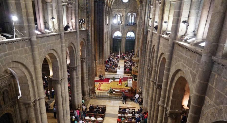 Botafumeiro en la Catedral Compostelana