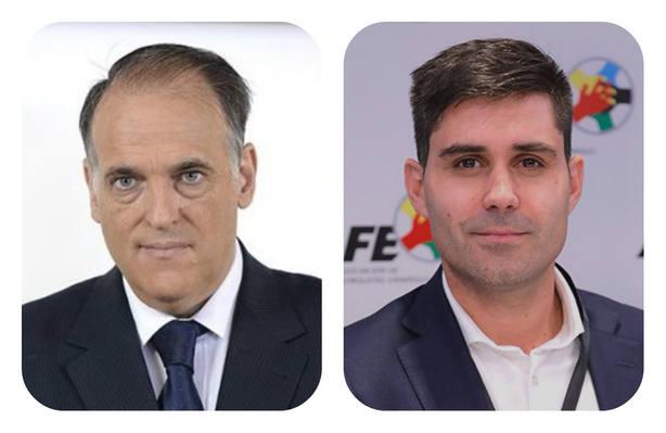 Javier Tebas y David Aganzo