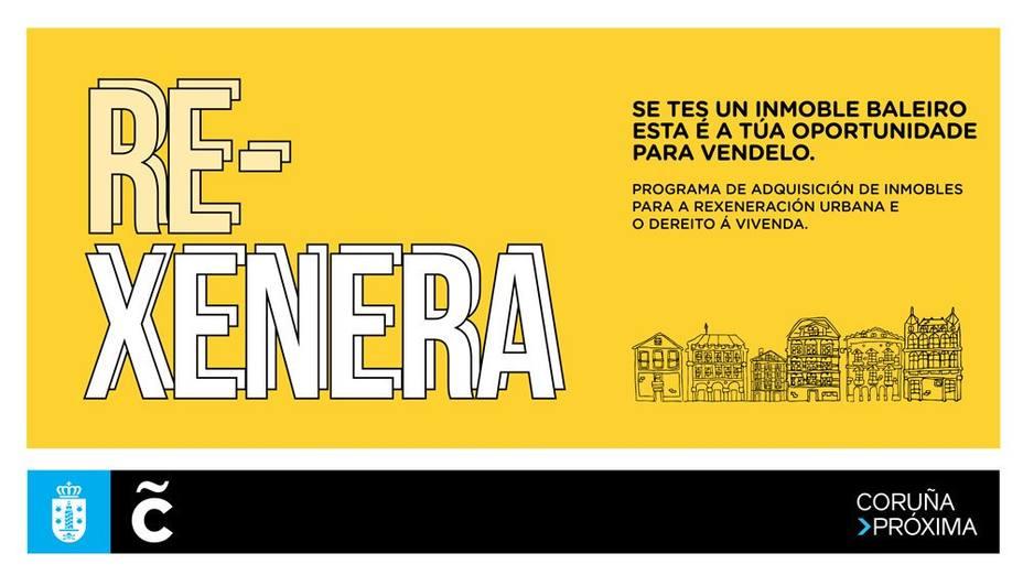 Cartel publicitario del concurso para adquirir vivienda pública