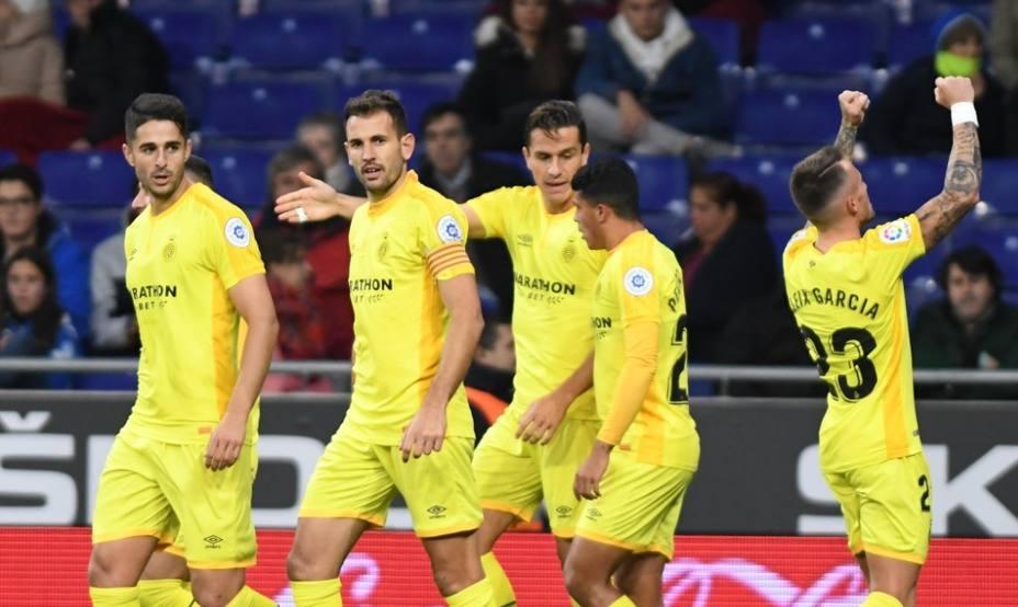 Stuani se afianza en la cabeza de la tabla de goleadores con Aspas al acecho