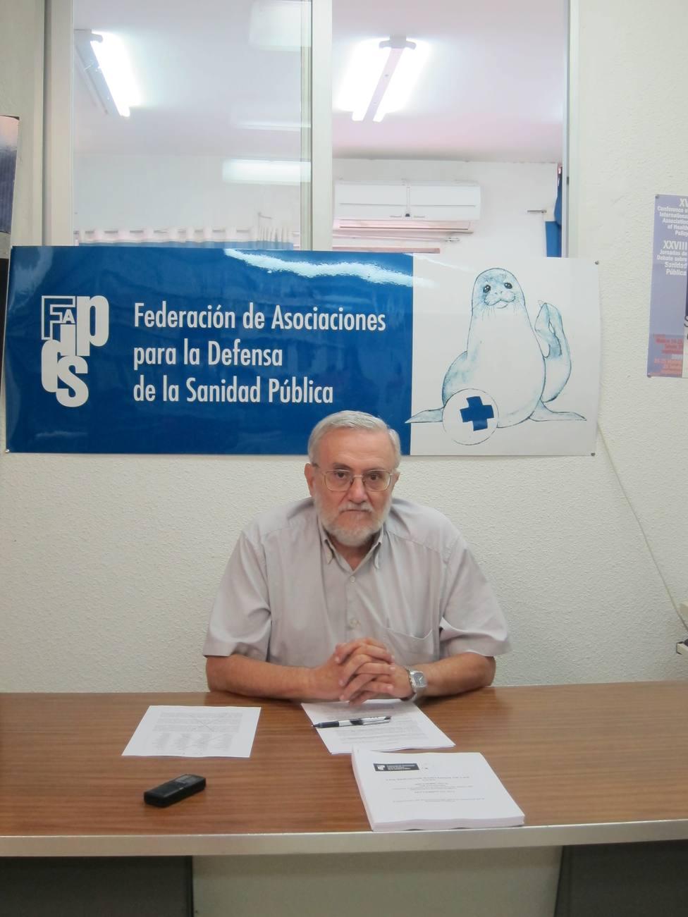 Defensa de Sanidad Pública pide una finaciación del 7% del PIB y eliminar todos los copagos
