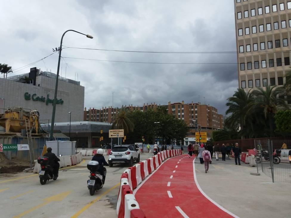 Abre al tráfico el nuevo desvío en Nazareno del Paso por las obras del metro de Málaga