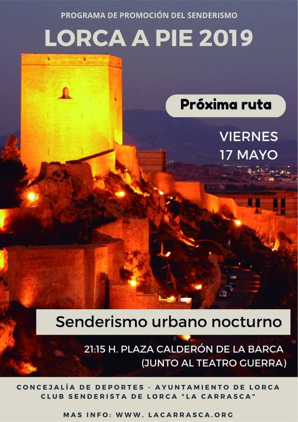 Descubre Lorca con la Ruta Senderista Nocturna