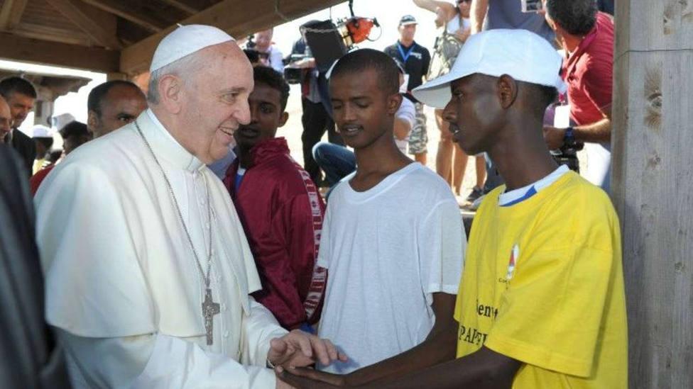 El Papa Francisco durante su visita a Lampedusa el 8 de julio 2013