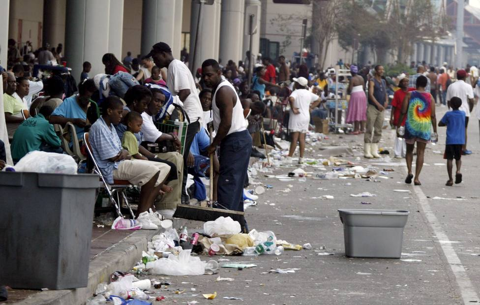 Imagen de archivo de las consecuencias del Huracán Katrina en Nueva Orleans