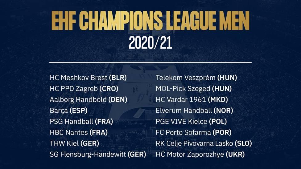 La EHF confirma los 16 participantes en la Liga de Campeones