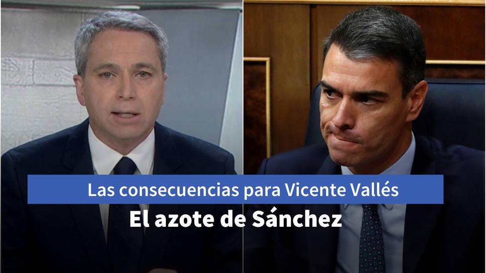 Las consecuencias que ha tenido para Vicente Vallés haber sido el azote de Sánchez durante la pandemia