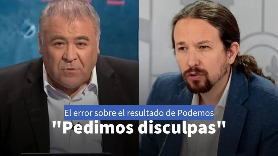 El error en Al Rojo Vivo sobre el resultado de Podemos en Galicia por el que han tenido que pedir disculpas