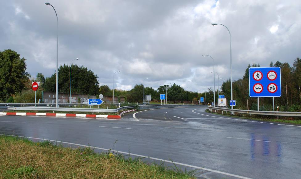 Intersección de acceso a la Autovía Ferrol-Vilalba