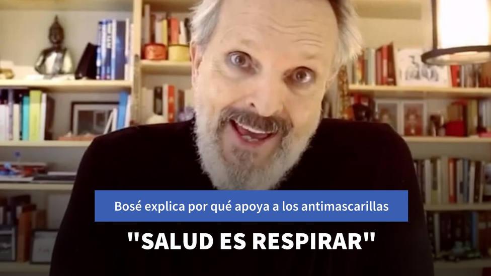 Miguel Bosé explica, por fin, a qué se debe su apoyo al movimiento antimascarillas: Salud es respirar