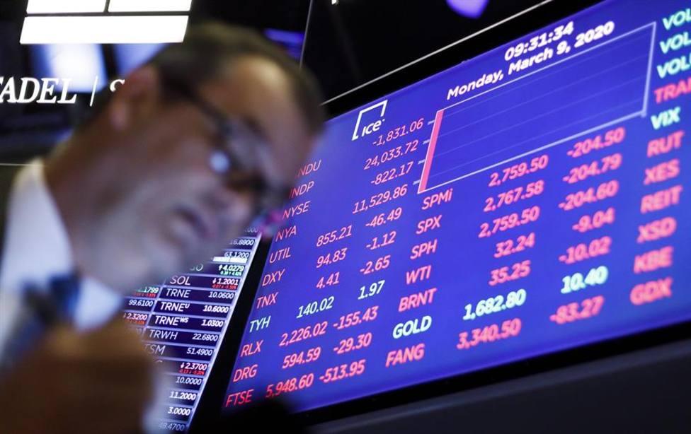 Wall Street, pantallas de las bolsa de Nueva York