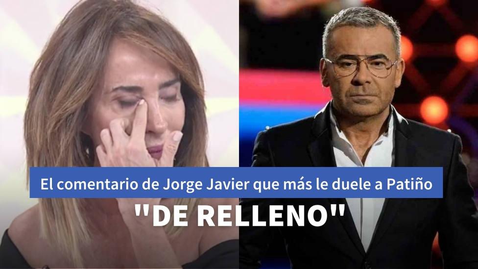 El desafortunado comentario con el que Jorge Javier humilla a María Patiño: De relleno