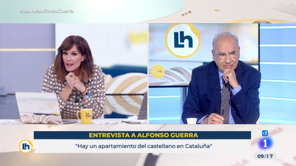 El recado de Alfonso Guerra que deja a Mónica López con esta cara: Por favor...
