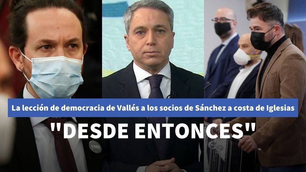 Vicente Vallés da una lección de democracia a los socios de Sánchez a costa de Iglesias: Desde entonces