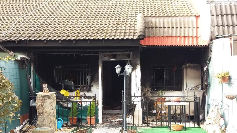 Incendio en vivienda de Trijueque 1