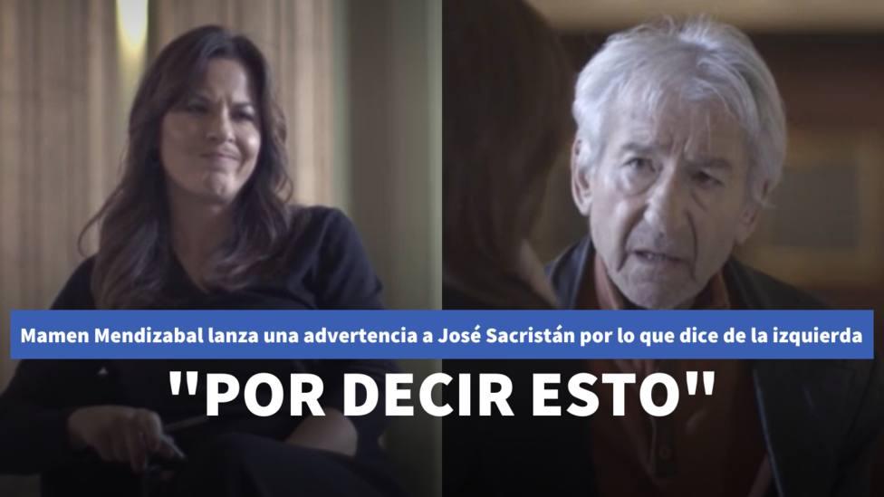 Mamen Mendizabal corta y advierte a José Sacristán por lo que dice de la izquierda: Por decir esto