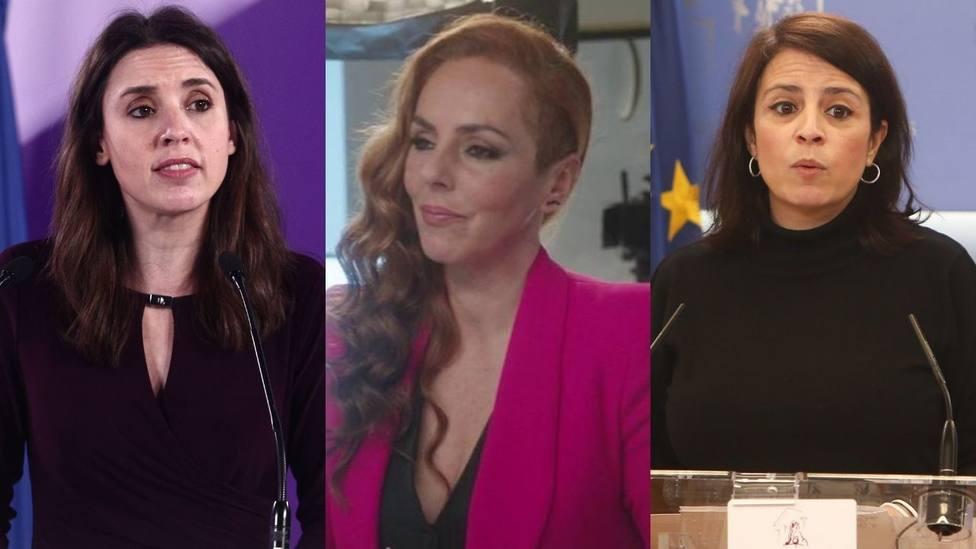 Irene Montero y Adriana Lastra dan su apoyo a Rocío Carrasco tras explicar su calvario con Antonio David