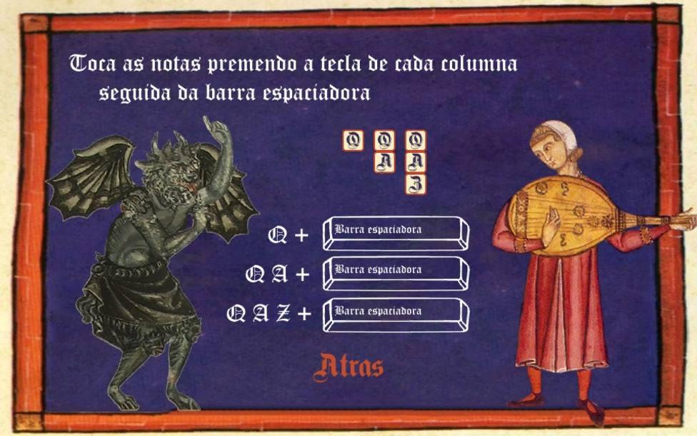 "Captura del videojuego ""O Mester"", ganador de la game jam ""Afonso X e Galicia"""