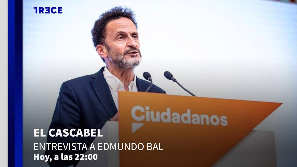 Este miércoles, El Cascabel entrevista a Edmundo Bal a partir de las 22.00h