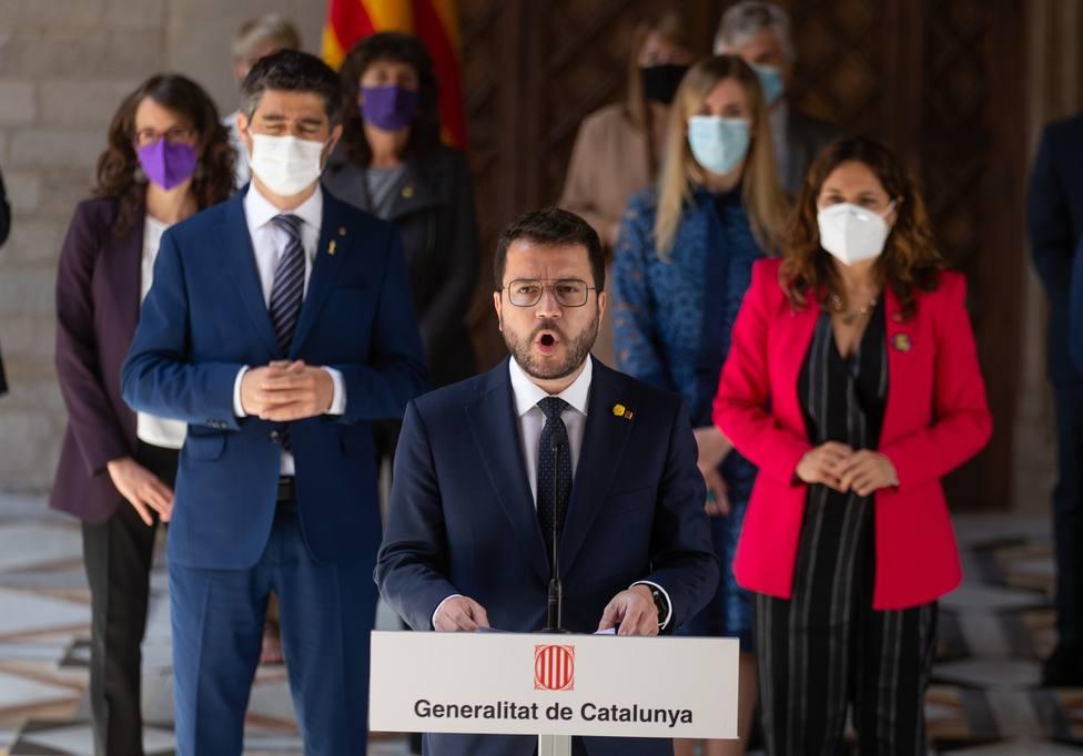 Pere Aragonès preside la primera reunión de trabajo del Govern