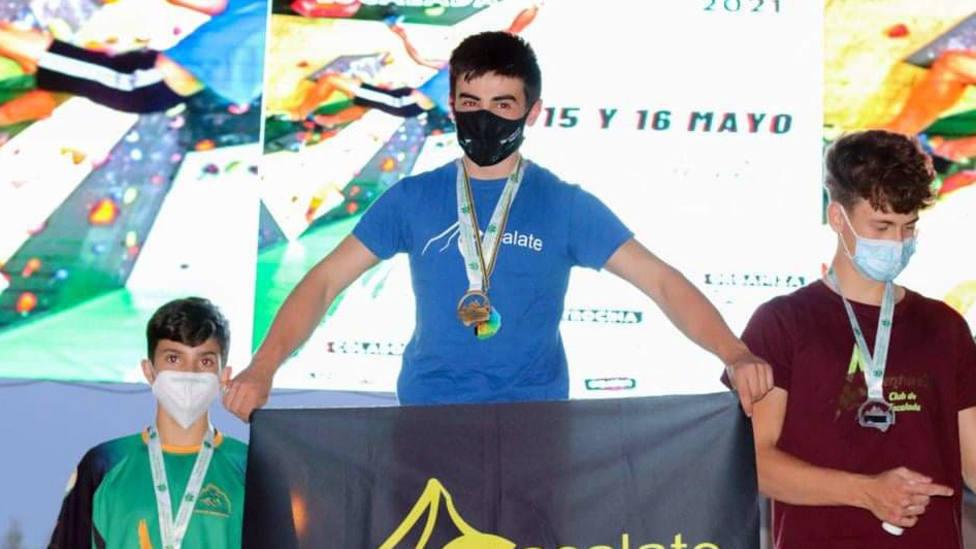 El cadete motrileño Ignacio Sánchez se proclamó subcampeón de Andalucía de escalada
