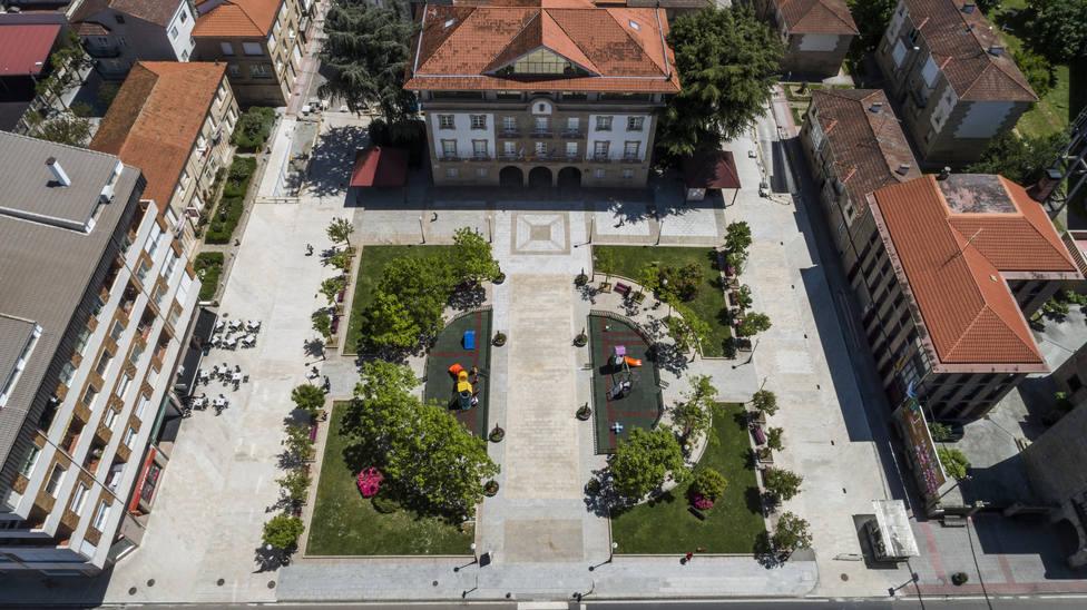 Plaza del ayuntamiento de Verín