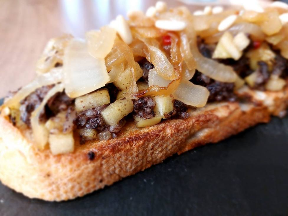 Una de las tostas participantes /Foto: Restaurante Valladolid