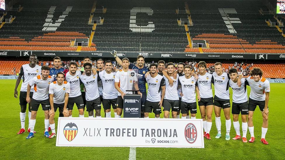 El Valencia CF se impuso 5-4 en la tanda de penaltis al AC Milan