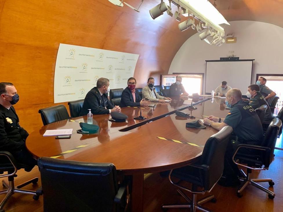 El concejal de Seguridad Ciudadana destaca la buena coordinación entre los Cuerpos y Fuerzas de Seguridad