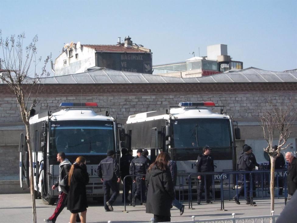 Al menos 22 detenidos durante un acto en recuerdo de víctimas de un atentado en Turquía