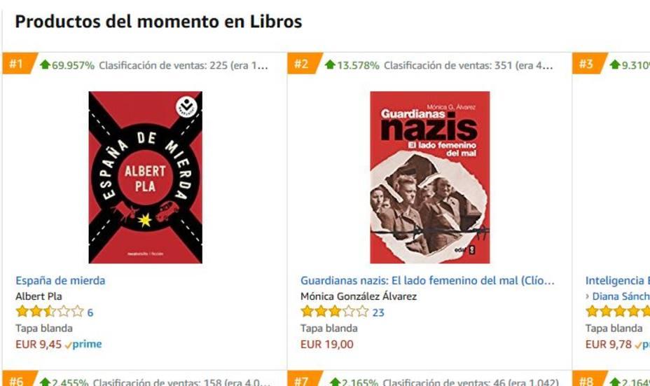 España de mierda, número uno en ventas en Amazon