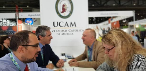 La UCAM participa en la EAIE, la feria de universidades más importante de Europa