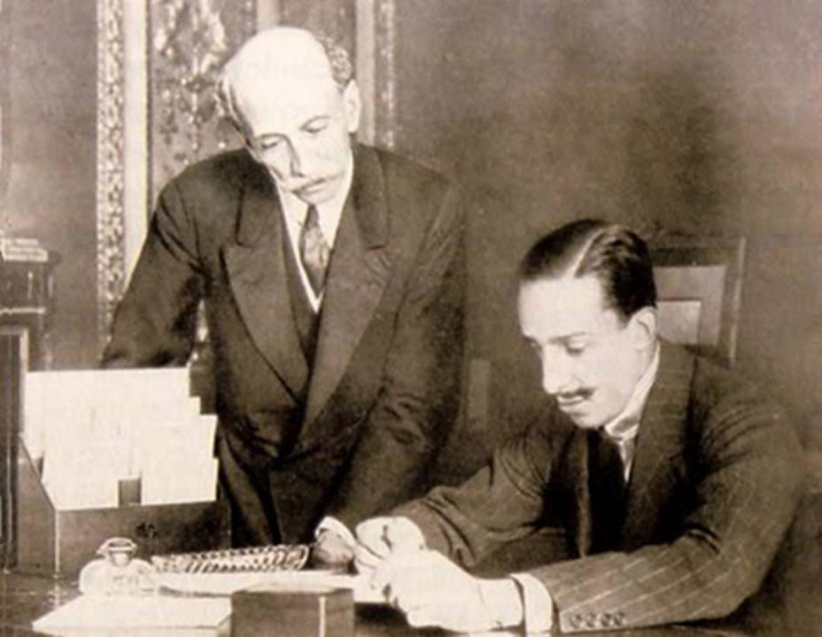 El Presidente Eduardo Dato con el Rey Alfonso XIII