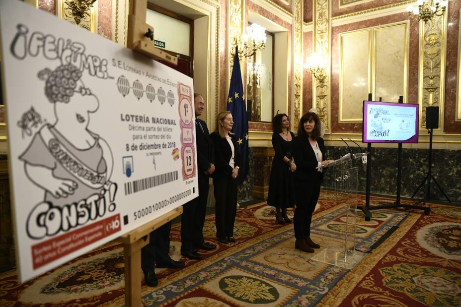 El Congreso acoge un sorteo de Lotería Nacional con motivo del aniversario de la Constitución