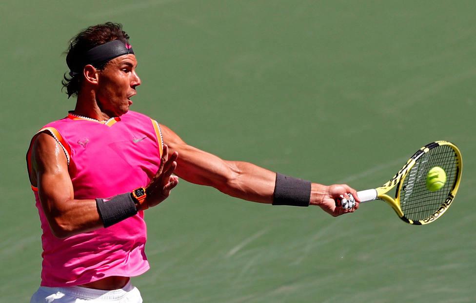 Rafa Nadal, en Indian Wells (EFE)