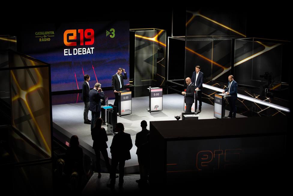 TV3 emite en el debate el minuto de oro grabado de Junqueras y no el de Puigdemont