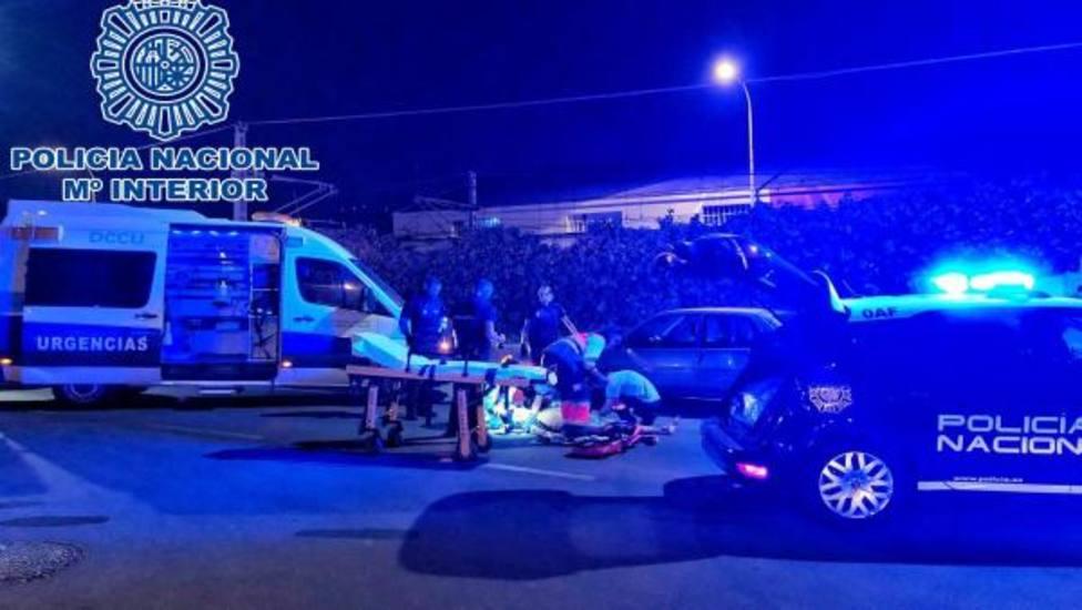 Tres detenidos en Cádiz tras agredirse entre ellos cuando viajaban en un coche robado