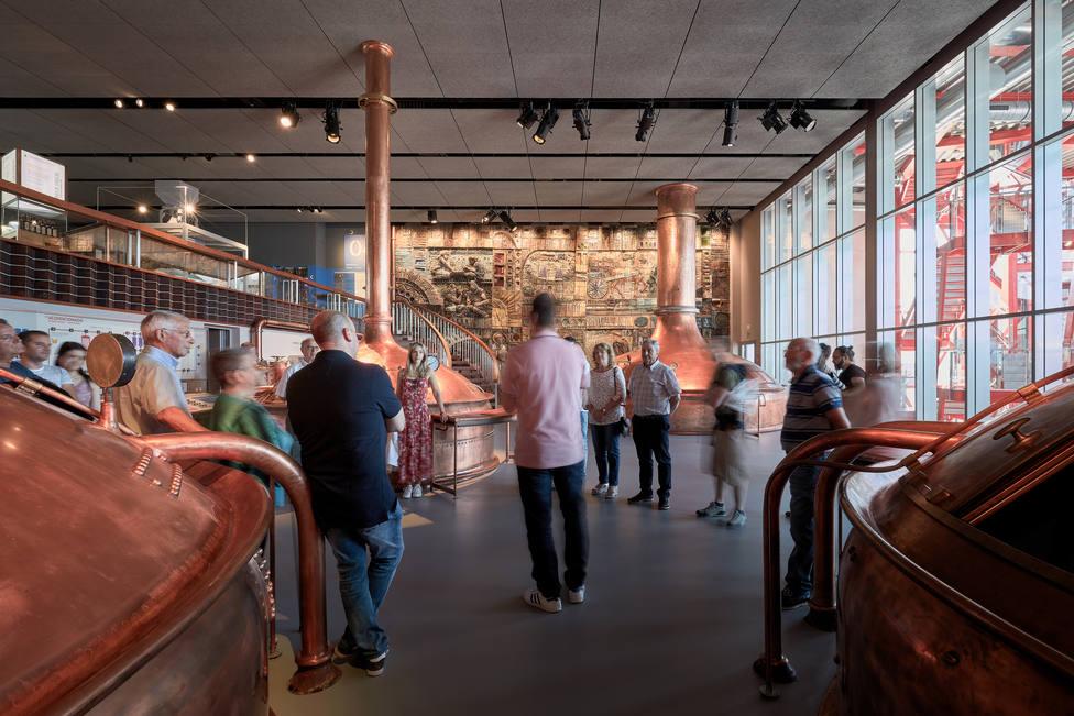 Antigua sala de cocedero incluida en el museo
