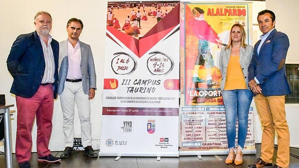 Acto de presentación del Campus Taurino de Alalapardo y del Certamen La Oportunidad