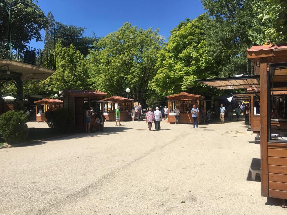 Casetas de la Feria Expoesía que se desarrolla en Soria hasta el 14 de agosto