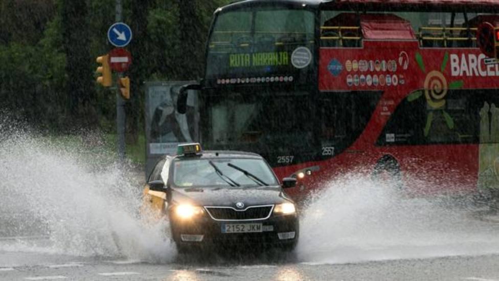 Imagen de archivo de Barcelona durante un día de fuertes lluvias