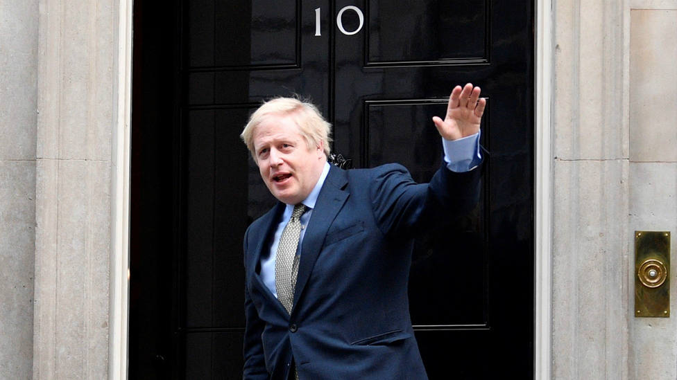 Boris Johnson en el 10 Downing Street