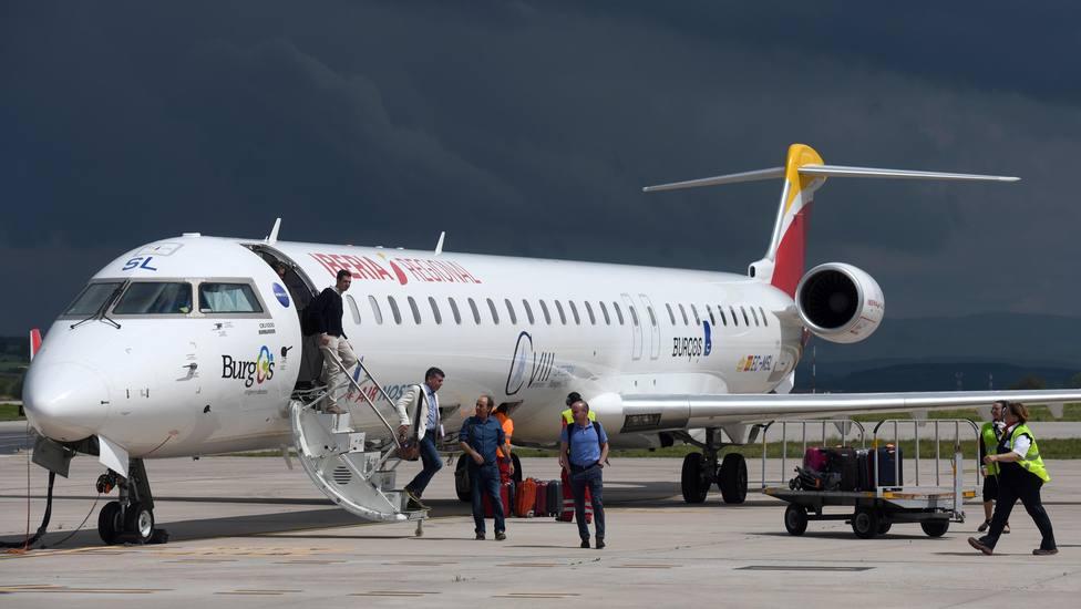 Primer vuelo de reapertura del Aeropuerto de Burgos