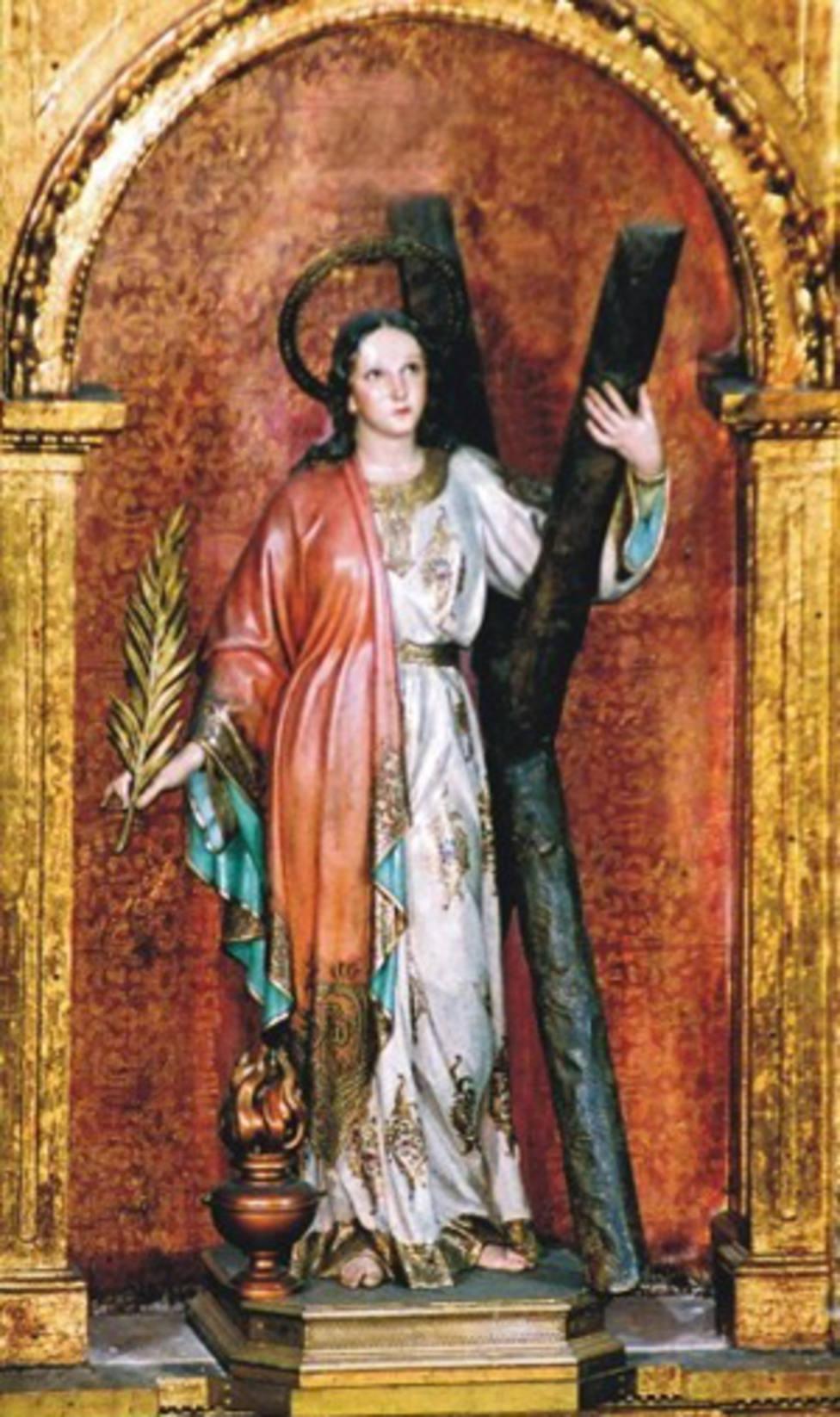 Santa Eulalia de Barcelona mártir por confesar su Fe ante el Tribunal