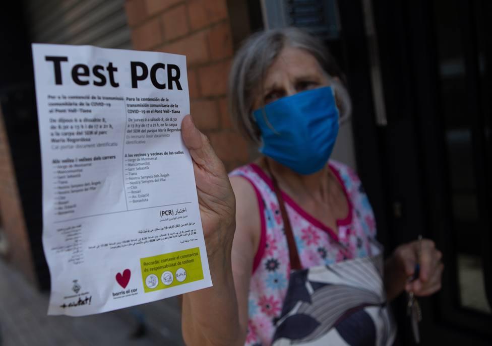 Pruebas PCR para detectar positivos en Ripollet (Barcelona)