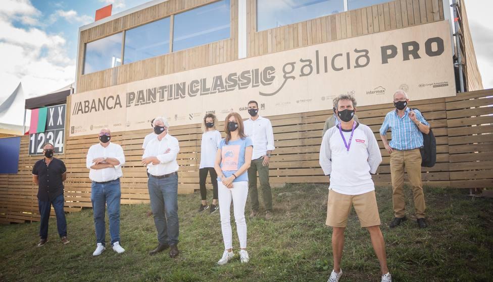 Participantes en la presentación del Abanca Pantín Classic Galicia Pro - FOTO: Cedida
