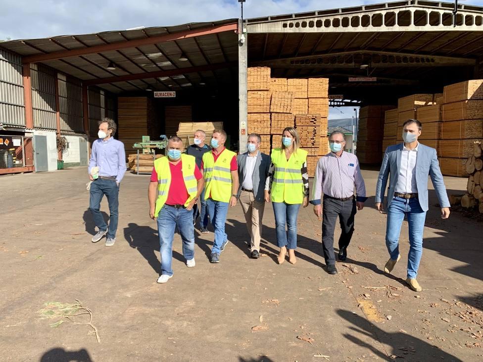 A Mariña pone el material para el primer edificio público construido con madera autóctona en Lugo