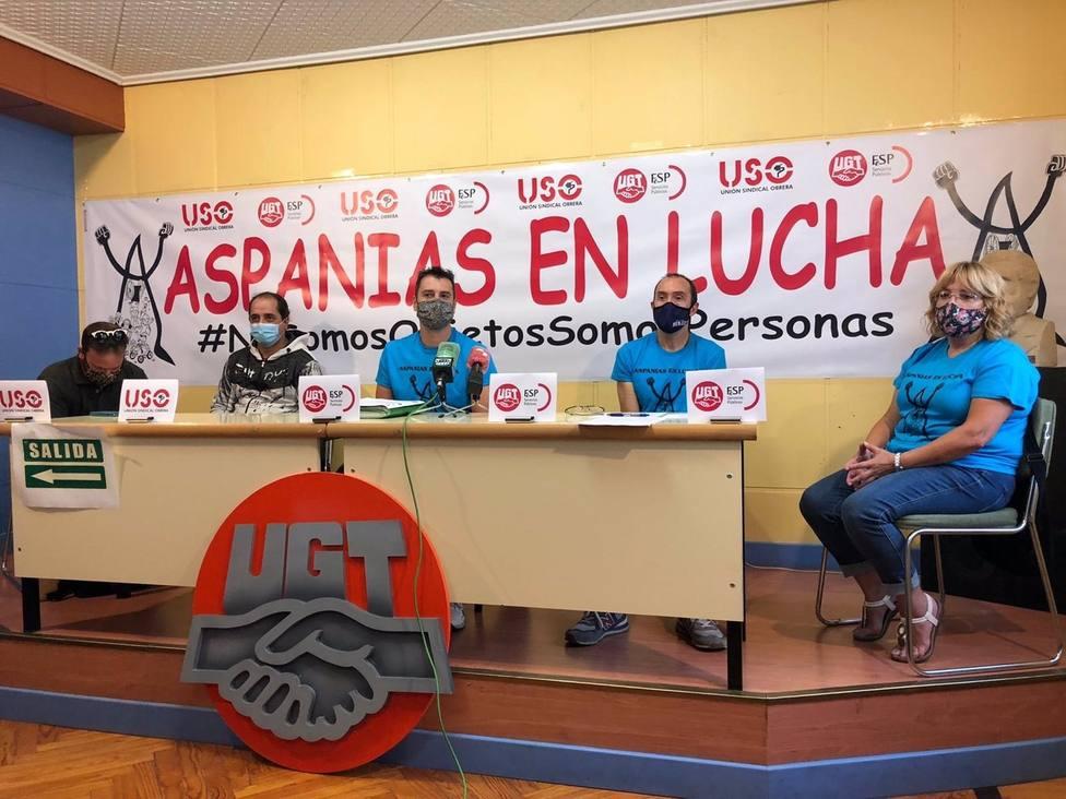 En El Centro, Eugenio Delgado, Presidente De Uno De Los Comités De Empresa De Aspanias