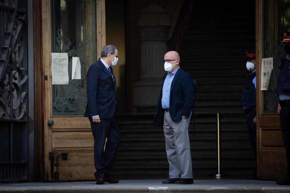 Quim Torra llega al Tribunal Superior de Justicia de Cataluña acompañado por su abogado Gonzalo Boye